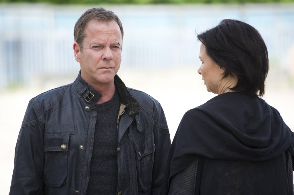 Jack Bauer (Kiefer Sutherland) trades his freedom for Chloe O'Brian (Mary Lynn Rajskub) in 24: Live Another Day Finale