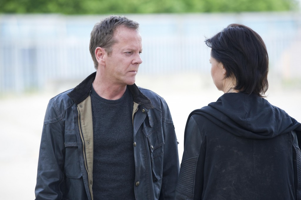 Jack Bauer (Kiefer Sutherland) trades himself for Chloe O'Brian (Mary Lynn Rajskub) in 24: Live Another Day Finale