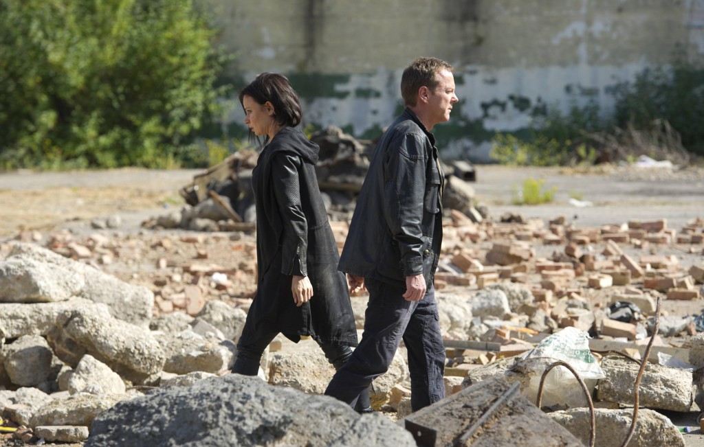 Jack Bauer (Kiefer Sutherland) trades himself to Russians for Chloe O'Brian (Mary Lynn Rajskub) in 24: Live Another Day Finale