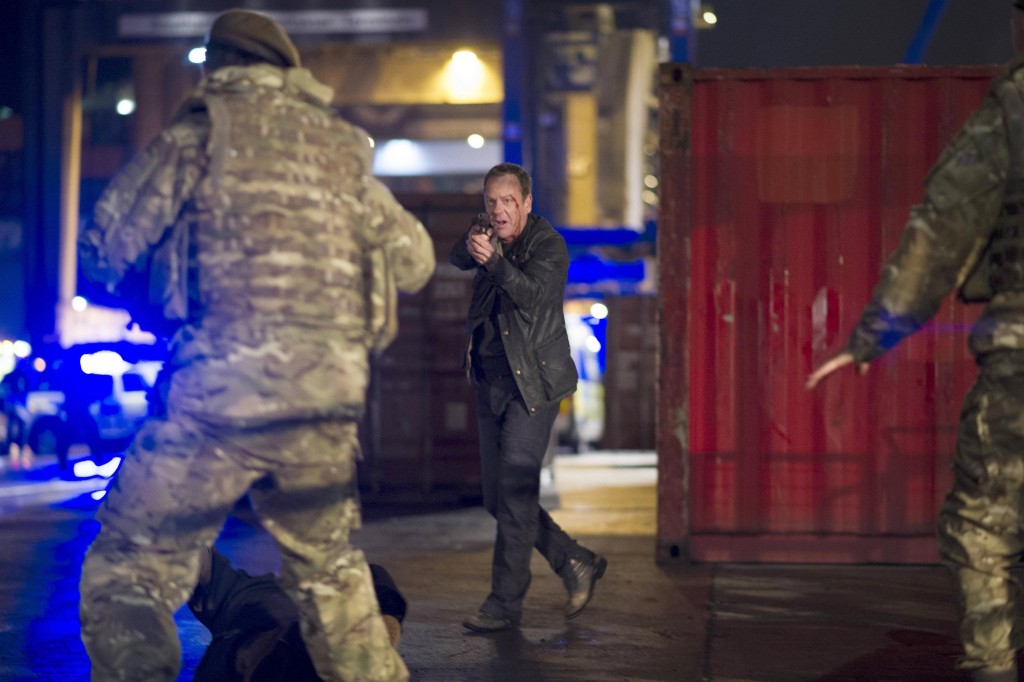 Jack Bauer (Kiefer Sutherland) with gun in 24: Live Another Day Finale