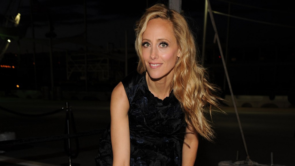 Kim Raver signing posters at the 24: Live Another Day Premiere Screening in NYC