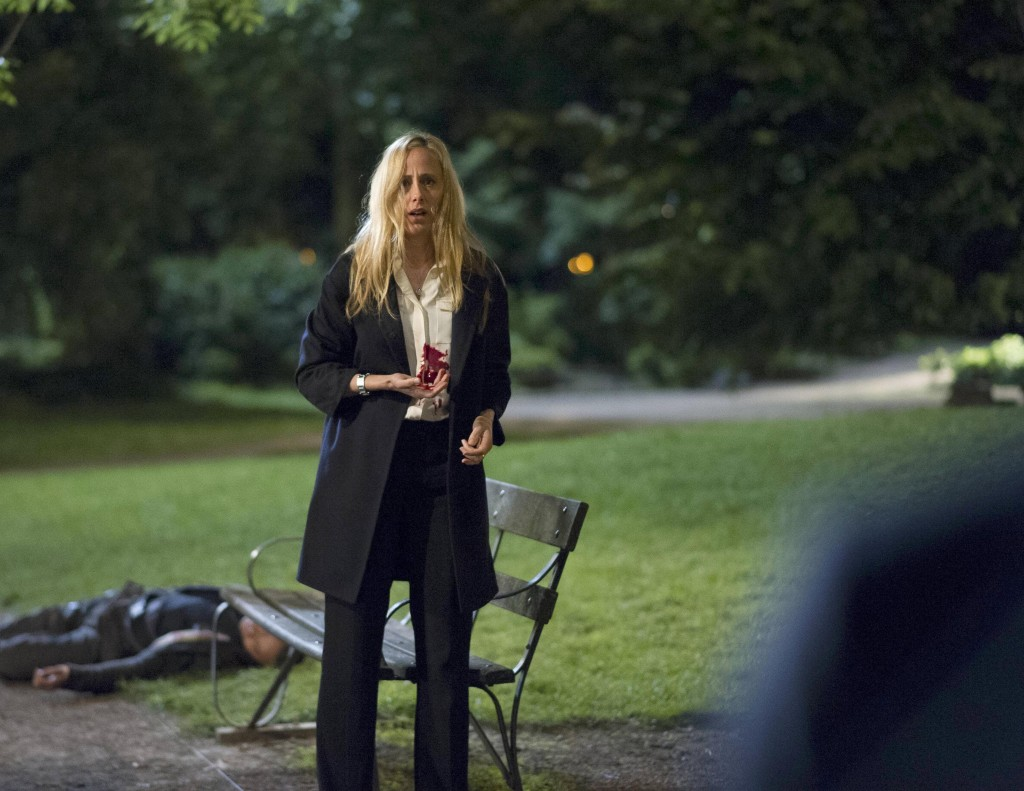 Audrey (Kim Raver) takes a bullet in 24: Live Another Day Finale
