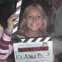 Skye McCole Bartusiak on set of 24 Season 2