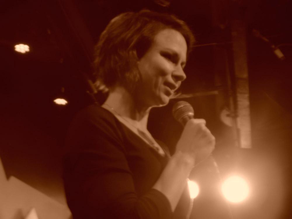 Mary Lynn Rajskub doing standup comedy at Caroline's on Broadway in New York City