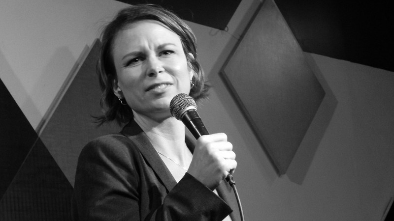 Mary Lynn Rajskub performing standup at Caroline's on Broadway in New York City