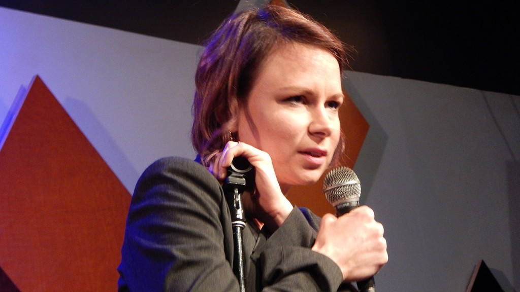 Mary Lynn Rajskub doing standup at Caroline's on Broadway in NYC