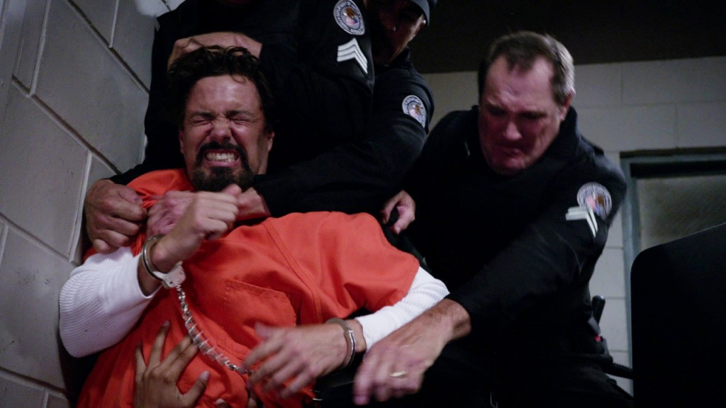 Tony Almeida restrained in 24: Solitary