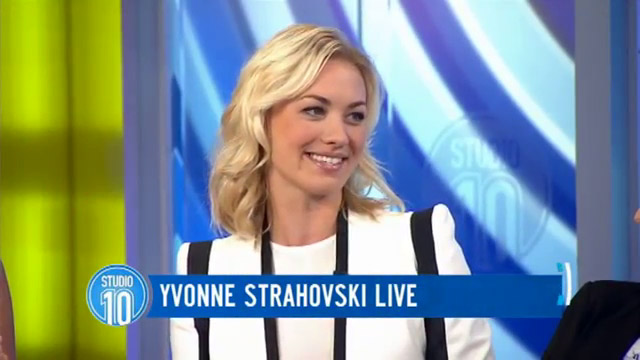 Yvonne Strahovski at Studio 10 in Australia