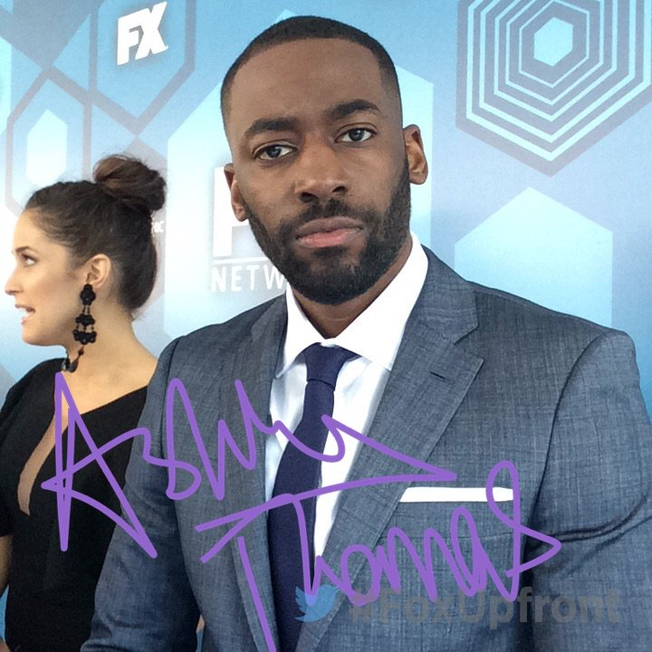 Ashley Thomas at Fox Upfronts Party (via Twitter)