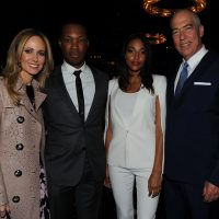Corey Hawkins with Dana Walden and Gary Newman at at FOX 2016 Upfronts Party