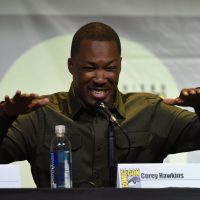 Corey Hawkins smiling at 24: Legacy San Diego Comic-Con 2016 Panel