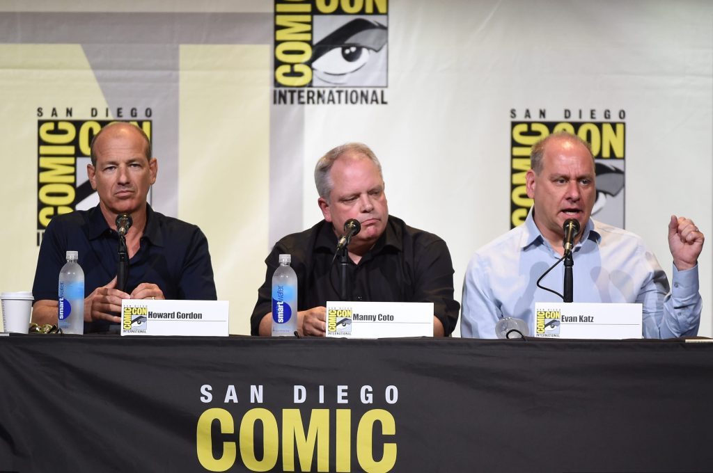Howard Gordon and showrunners Manny Coto, Evan Katz at 24: Legacy San Diego Comic-Con 2016 Panel
