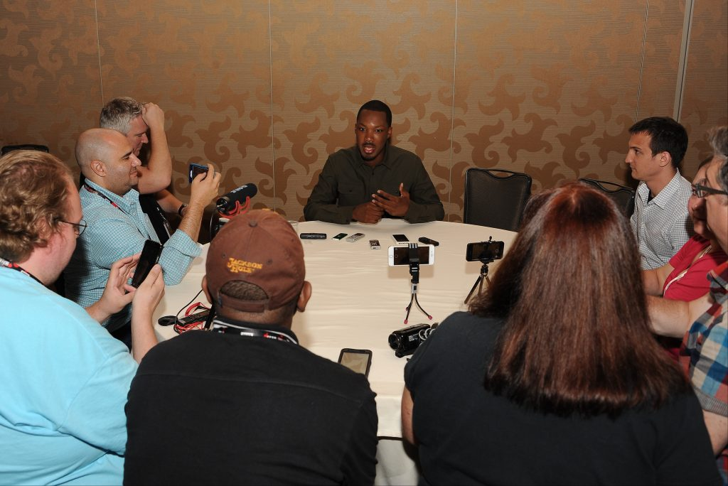 Corey Hawkins, star of 24: Legacy interviewed at San-Diego Comic-Con 2016