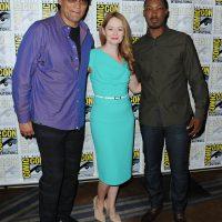 Jimmy Smits, Miranda Otto and Corey Hawkins at 24: Legacy Comic-Con Press Room