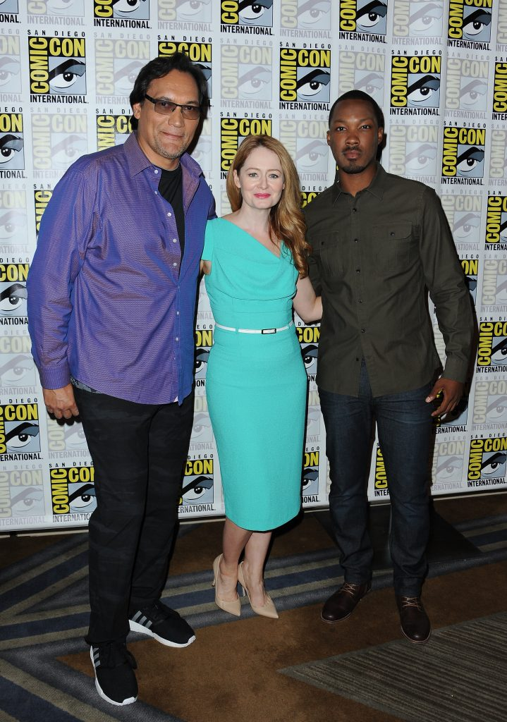 Jimmy Smits, Miranda Otto and Corey Hawkins at 24: Legacy Comic-Con Press Room