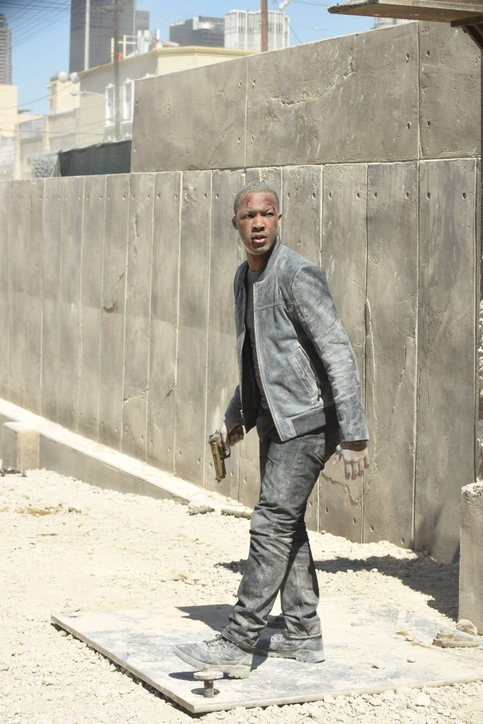 Corey Hawkins as Eric Carter in 24: Legacy Pilot Construction Scene Fight