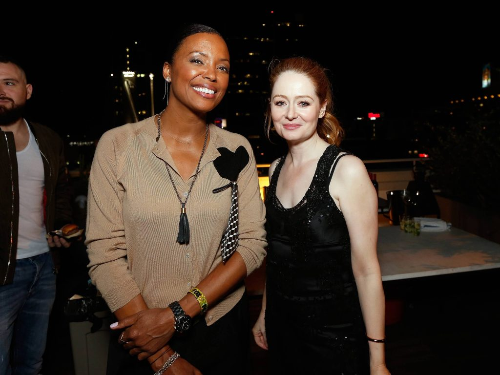 Aisha Tyler and Miranda Otto at 24: Legacy Tastemaker Screening Reception in Los Angeles