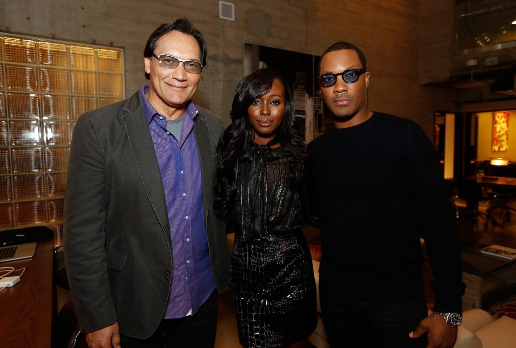 Jimmy Smits, Anna Diop, Corey Hawkins at 24: Legacy Tastemaker Screening Reception in Los Angeles