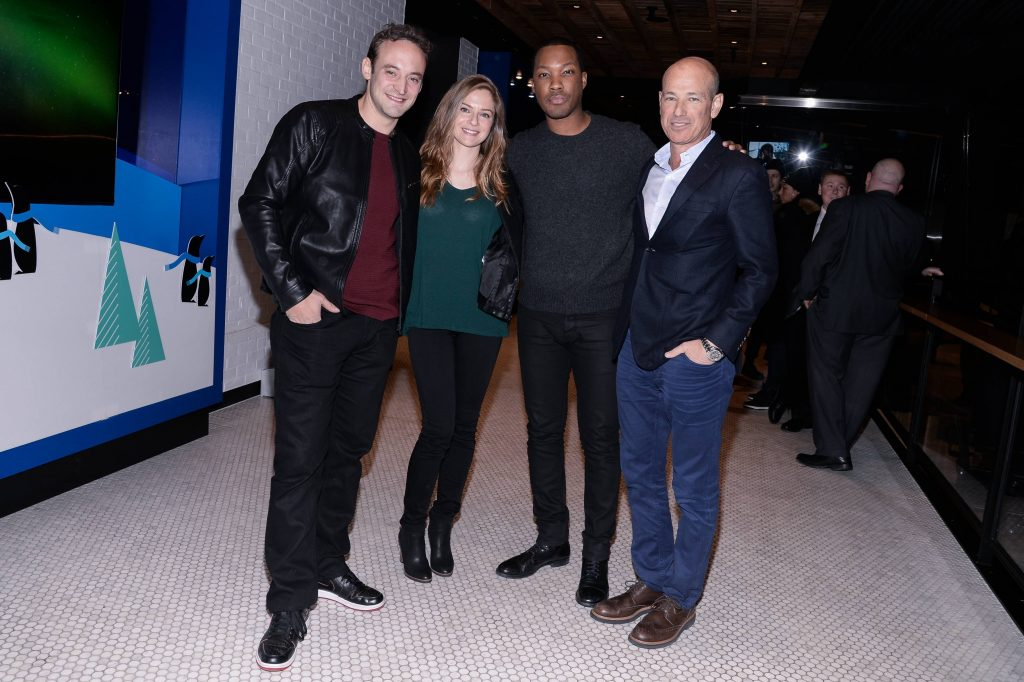 "Charlie Hofheimer, Shannon Lucio, Corey Hawkins and Howard Gordon at FOX & Samsung ""24: Legacy"" Screening and Panel Discussion"