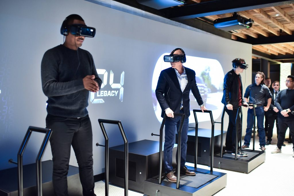 "Corey Hawkins and Howard Gordon try Samsung VR at FOX & Samsung ""24: Legacy"" Screening and Panel Discussion"