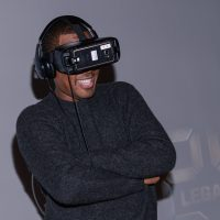 "Corey Hawkins tries virtual reality at FOX & Samsung ""24: Legacy"" Screening and Panel Discussion"