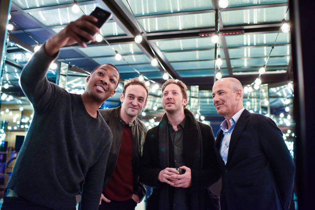 """Corey Hawkins selfie with Charlie Hofheimer, Howard Gordon at FOX & Samsung """"24: Legacy"""" Screening and Panel Discussion"""