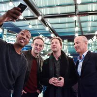 "Corey Hawkins selfie with Charlie Hofheimer, Howard Gordon at FOX & Samsung ""24: Legacy"" Screening and Panel Discussion"