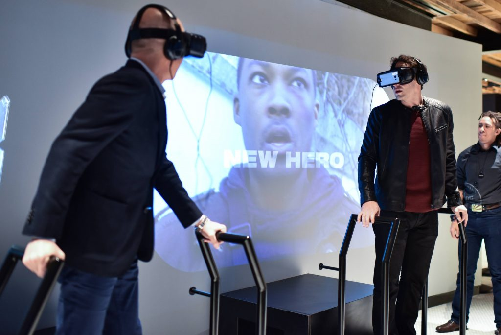 "Howard Gordon and Charlie Hofheimer use Virtual Reality at FOX & Samsung ""24: Legacy"" Screening and Panel Discussion"