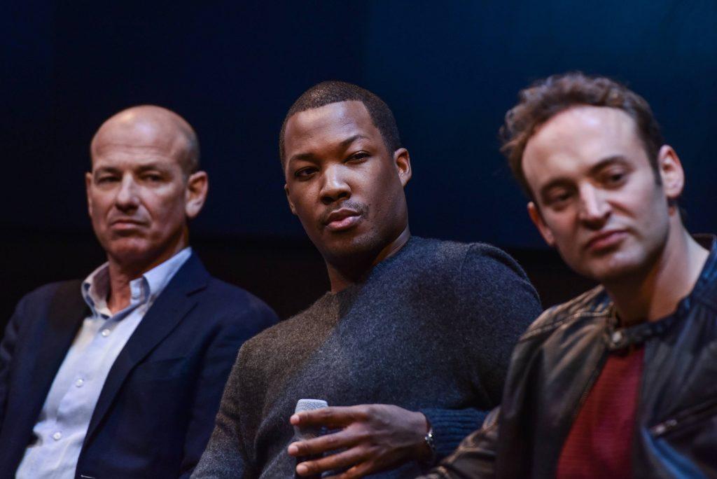 "Howard Gordon, Corey Hawkins, Charlie Hofheimer at FOX & Samsung ""24: Legacy"" Screening and Panel Discussion"