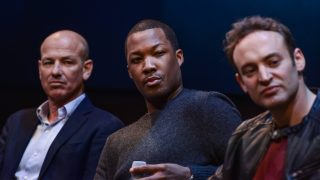 "Howard Gordon, Corey Hawkins, Charlie Hofheimer at FOX & Samsung ""24: Legacy"" Screening and Panel Discussion"