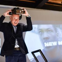 "Howard Gordon using Samsung VR at FOX & Samsung ""24: Legacy"" Screening and Panel Discussion"