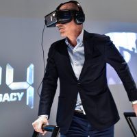 "Howard Gordon trying Samsung VR at FOX & Samsung ""24: Legacy"" Screening and Panel Discussion"