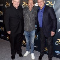 Manny Coto, Brian Grazer, Evan Katz at 24: Legacy Premiere Screening in New York City