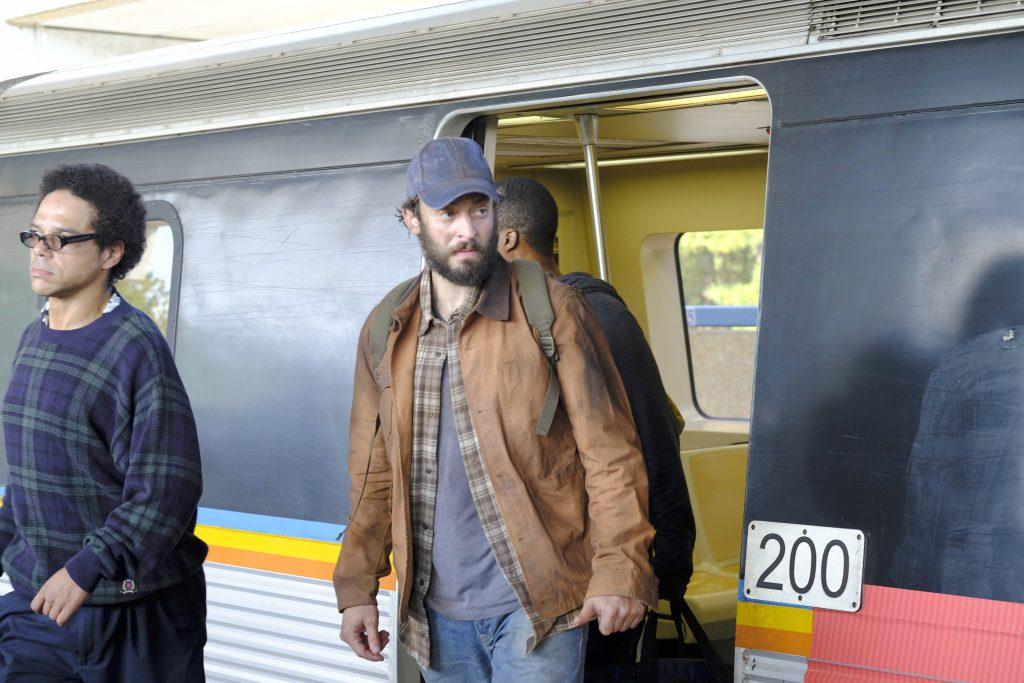 Ben Grimes (Charlie Hofheimer) steps off train in 24: Legacy Episode 3
