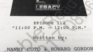 24: Legacy Finale Script Page