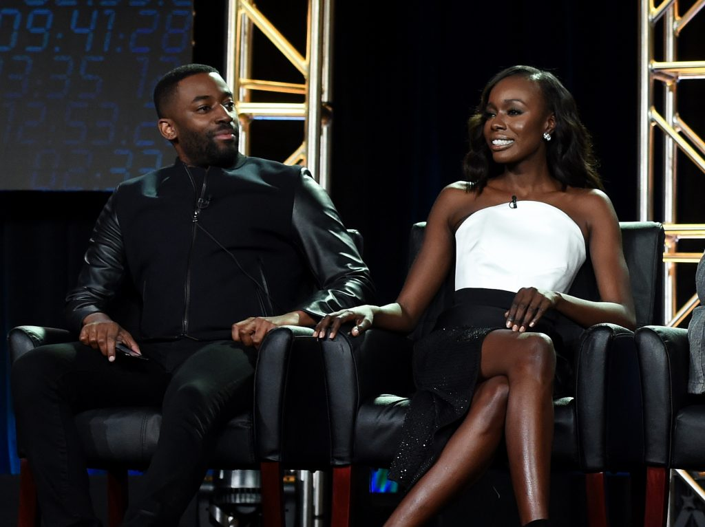 Ashley Thomas and Anna Diop at 24: Legacy Panel during FOX Winter TCA 2017