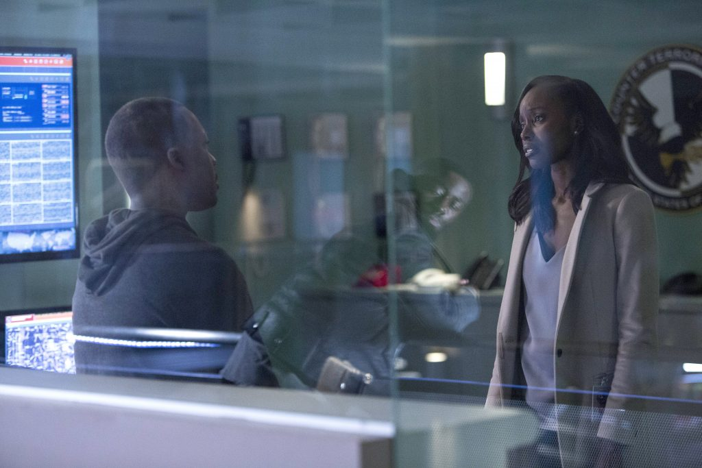 Anna Diop as Nicole Carter inside CTU, 24: Legacy Episode 10
