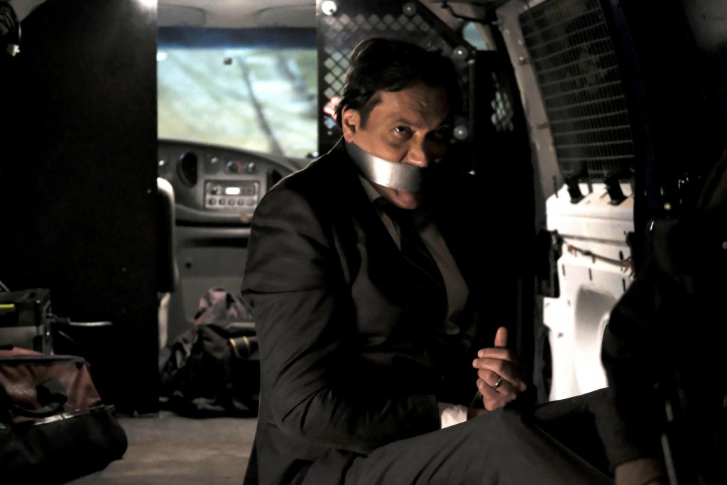 Senator John Donovan (Jimmy Smits) is captured in 24: Legacy Episode 10
