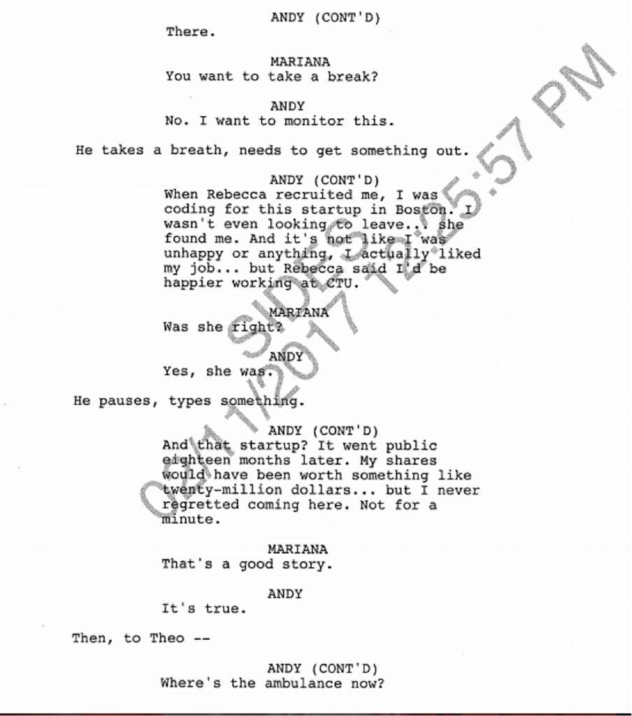 24: Legacy Finale Deleted Scene Script