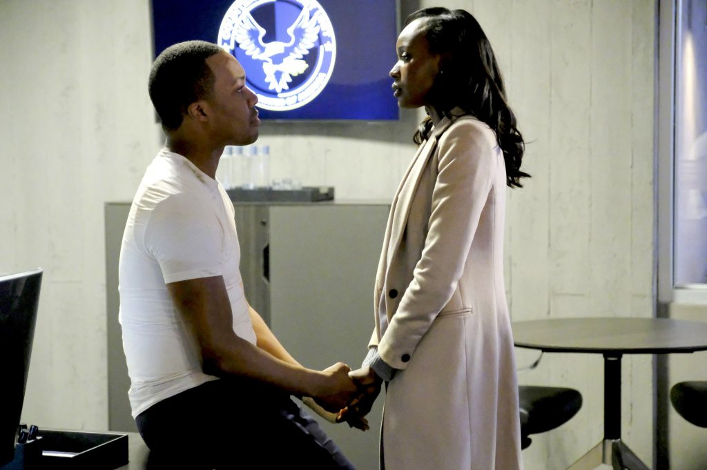 Eric and Nicole Carter embrace in CTU - 24: Legacy Season Finale