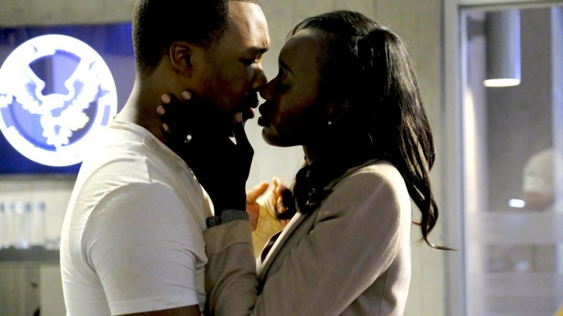 Eric and Nicole Carter kiss in CTU - 24: Legacy Season Finale