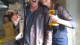Kiefer Sutherland and Mary Lynn Rajskub 24 Season 8 BTS